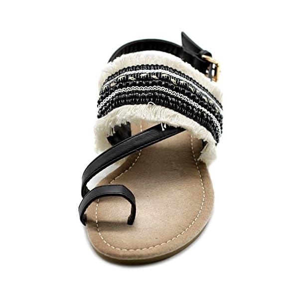 6c62e539b5e6d Ollio Women s Shoes Ethnic Toe Ring Diagonal Strap Sling Back Boho ...