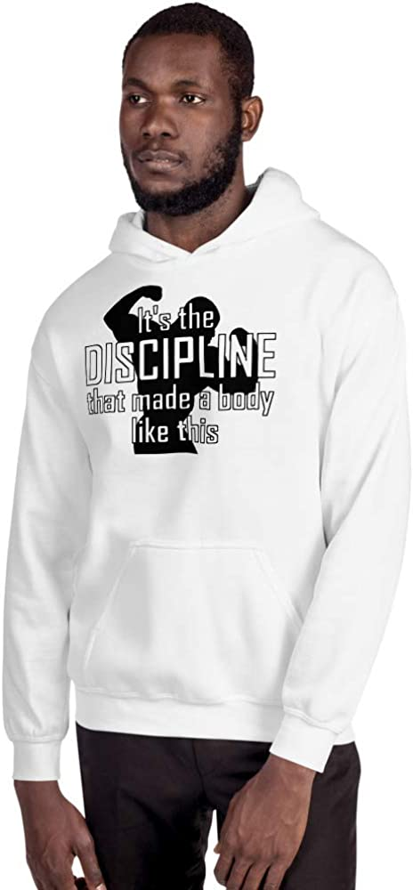 Mynimo Its The Discipline That Made a Body Like This Funny Sarcasm Unisex Hoodie