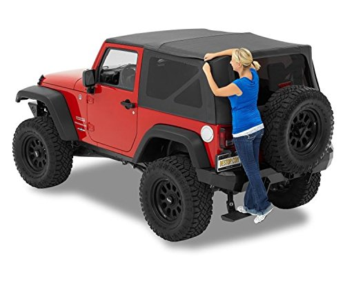 Bestop 54722-35 Black Diamond Supertop NX Complete Replacement Soft Top w/Tinted Windows for 2007-2018 Jeep Wrangler (Except Unlimited) ()