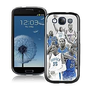 New Custom Design Cover Case For Samsung Galaxy S3 I9300 Oklahoma City Thunder Kevin Durant 6 Black Phone Case