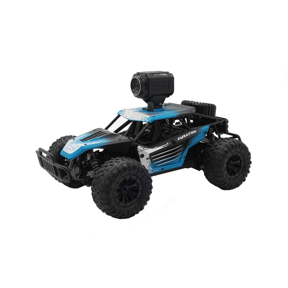 Hisoul Hot  RC Car Toys for Kids Age 8 1/18 2.4G 4 WD Independent Suspension Off-Road Rally Car Rechargeable Climbing Crawler Off-Road RC Car for Adults and Children (Blue)