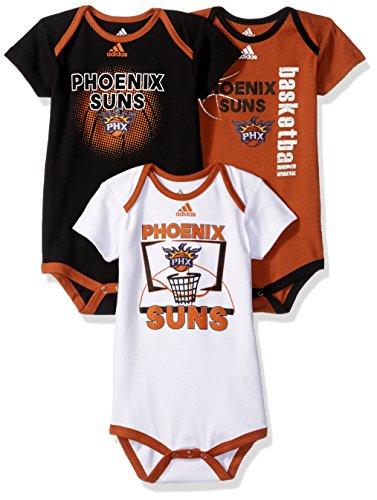 NBA Infant Phoenix Suns 3 Point Bodysuit Set-Texas Orange-24 Months