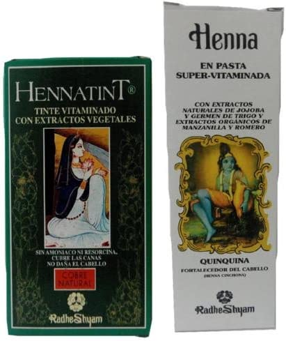 Natural Pelo De Cobre): hennatint de tinta + Henna pelo ...