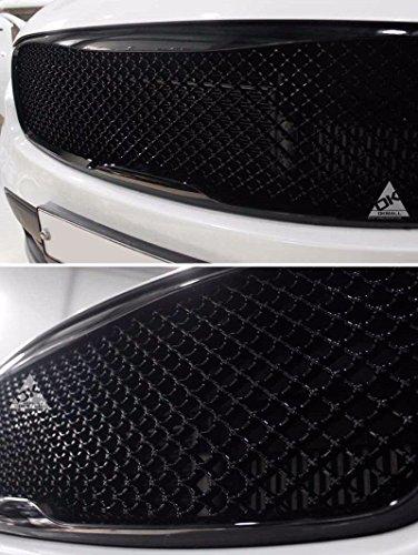 LIGHTKOREA Bentley Style Radiator Mesh Type Front Grille Grill For KIA Sorento 2016 2017 2018 (Glossy Black)