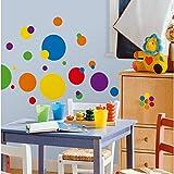 RoomMates RMK1248SCS York Wallcoverings Just Dots Primary Adhesivos de Pared con Despega y Adhiere Multicolor
