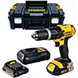 DEWALT Perceuse-visseuse a percussion DCD776S2T, 2 batteries 18 V et mallette Tstak