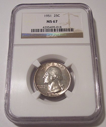 1951 Washington Quarter MS67 NGC