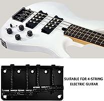 Dilwe 4 Cuerdas Puente de Guitarra Bajo, Metal Puente de Guitarra ...