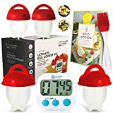 Egg Cooker As Seen on TV with Silicone Cups, Timer, Recipe eBook | No.1 Breakfast Kit | Hard Boiled Eggs Without the Shells | Hard, Soft or Poached To Perfection - by Culinary Natives
