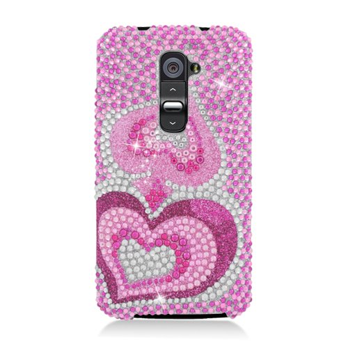 Eagle Cell Diamond Protector Case for LG G2 – Retail Packaging – Pink Heart, Best Gadgets