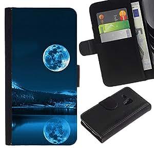A-type ( Galassia Stelle 40) Colorida Impresión Funda Cuero Monedero Caja Bolsa Cubierta Caja Piel Card Slots Para Samsung Galaxy S3 MINI 8190 (NOT S3)