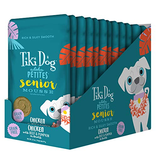 Tiki Dog Aloha Petites Mousse - 3.5 oz. Pouch 12BX - Senior ()