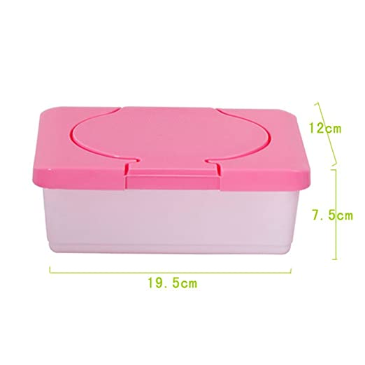 Amazon.com : Woopower Plastic Wet Tissue Case Wipe Dispenser Baby Wipes Box Home Tissue Holder (Pink) : Baby