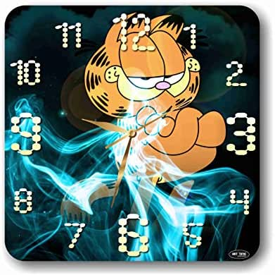 Art time production Garfield 11'' Handmade Wall Clock - Get Unique décor for Home or Office – Best Gift Ideas for Kids, Friends, Parents and Your Soul Mates