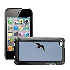 Hot Style Cell Phone PC Hard Case Cover // M00110881 Seagull Fly Freedom Blue Nature // Apple ipod Touch 4 4G 4th