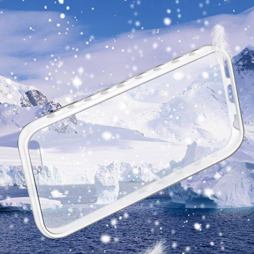 iPhone 5C Hülle OuDu Silikon Schutzhülle Transparente Flexibel Schlank Hülle **NEW** Hochwertiges TPU Abdeckung Glatte Leichte Tasche Ultra Dünne Ultra langlebig Etui Stoßfeste Soft Silicone Case Cove