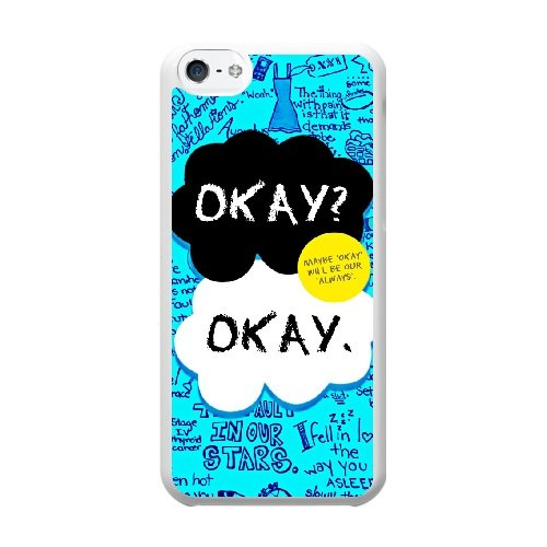 Coque,Coque iphone 5C Case Coque, The Fault In Our Stars, Okay Cover For Coque iphone 5C Cell Phone Case Cover blanc