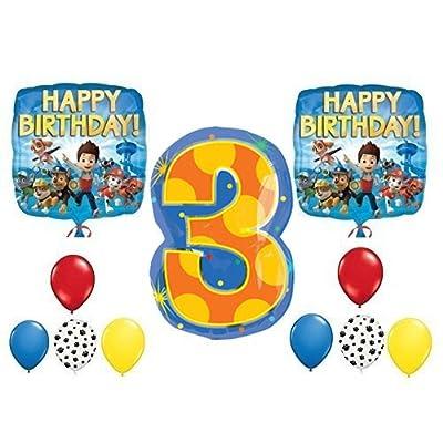 PAW Patrol 3rd Happy Birthday Balloon Decoration Kit: Toys & Games