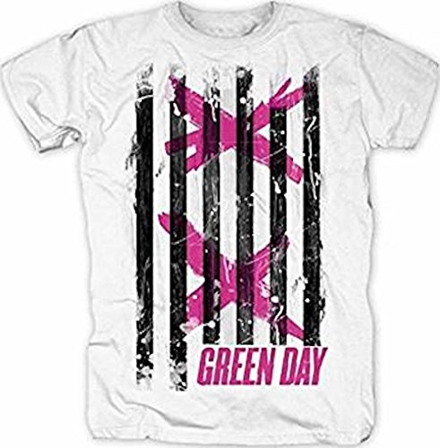 GREEN DAY - DOPPEL X STRIPES - OFFIZIELLES HERREN T-SHIRT