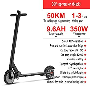 YIWANGO 350W Scooter Electrico Plegado Rápido Y Sencillo ...
