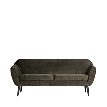 Amazon De Woood Rocco Sofa Samt Grun 2 Sitzer 340451 G