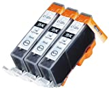 3 Pack Compatible Canon CLI-226 3 Small Black for use with Canon PIXMA series. Ink Cartridges for inkjet printers. CLI-526BK Blake Printing Supply