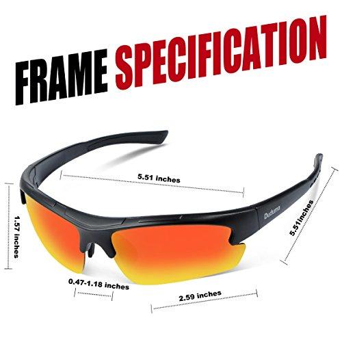 3c75fa6a052 Duduma Polarized Designer Fashion Sports Sunglasses for Baseball Cycling  Fishing Golf Tr62 Superlight Frame (Black