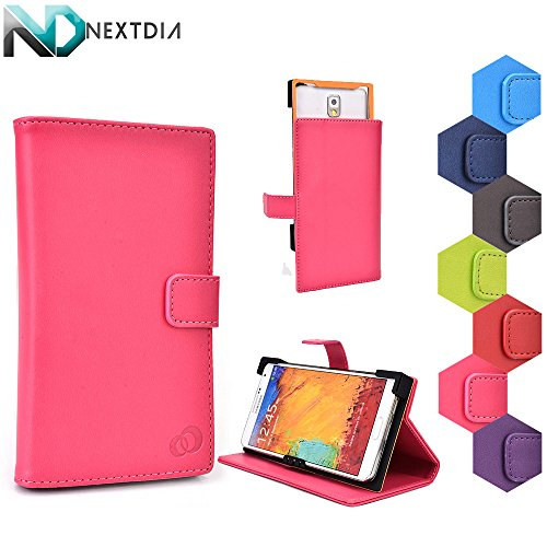 Huawei Ascend Y600 Stand Case with Quick Camera Access | Shady Lady Pink + NEXTDIA Cable Organizer