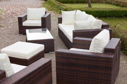 Essella Bahamas sillones de conjunto bicolor marrón: Amazon ...