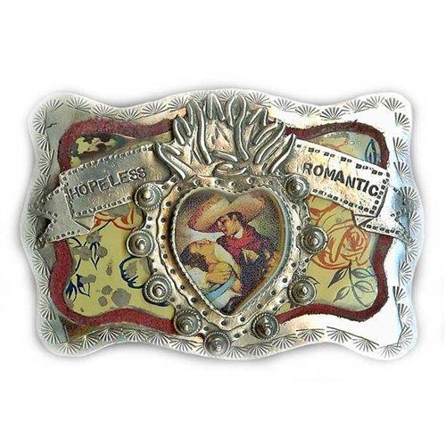 Silver Buckle Ranch (Sweet Bird Studio - Belt Buckle - Sterling Silver - Hopeless Romatic)