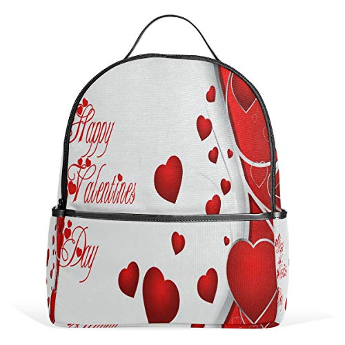 Perfect Valentine's Day Backpack Womens Laptop Daypack School Hiking Mens Travel Bags
