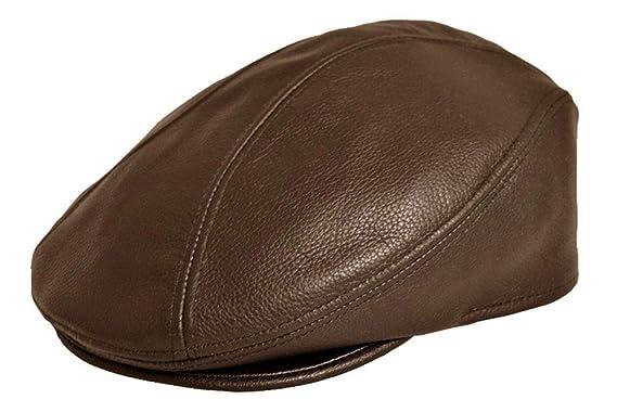a3171bc2b6925 Genuine Leather Ivy Flat Cap