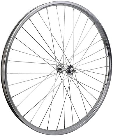 Silver Bolt On WheelMaster Front Bicycle Wheel 26 x 1 3//8 36H Steel