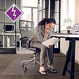 "Floortex Computex Anti-Static AdvantageMat, PVC Chair Mat for Carpets up to 3/8"" Thick, 60"" x 48"", Rectangular, Clear (3115226EV)"