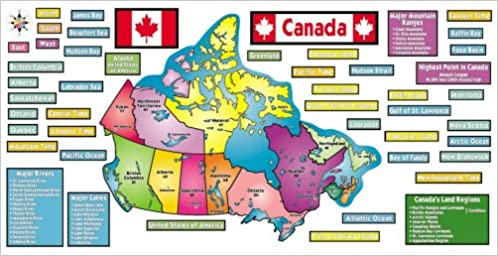Buy Map Of Canada.Buy Map Of Canada Bulletin Board Set Book Online At Low Prices In