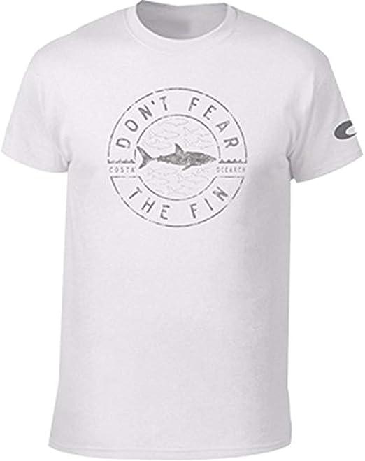 fba1331881b8 Costa Del Mar OCFIN-00W Mens Ocearch Fin camiseta de manga corta de algodón  pre-encogido: Amazon.es: Ropa y accesorios