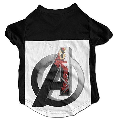 [PGxln Pet Dog Doggy Cat Puppy Tshirts Avengers Iron Man Logo Polo Dogs Size M Color Black] (Iron Man Cat Costume)