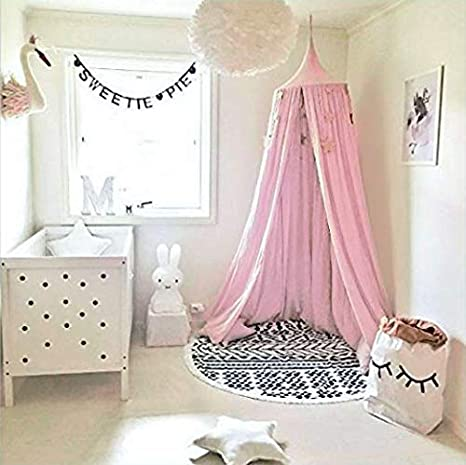 Baby Indoor Outdoo Bed Canopy for children Cotton Mosqutio Net Hanging Curtain