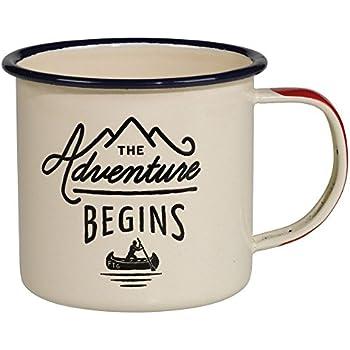 Gentlemen's Hardware Adventure Enamel Coffee Mug, Cream (12 Ounces)
