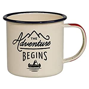 Gentlemen's Hardware Adventure Enamel Mug, Cream (12 Ounces)