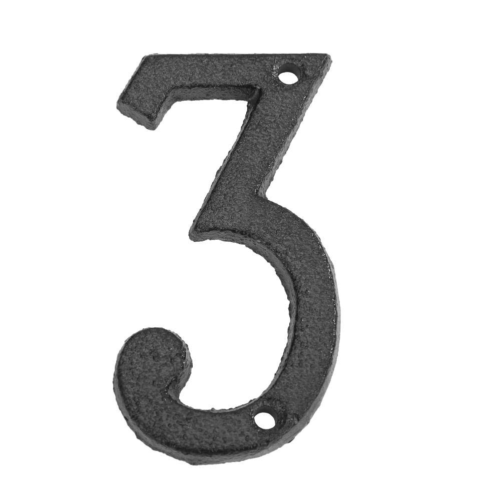 Prosperveil N/úmero de casa//Letras metal Etiqueta de Placa Decoraci/ón de Pared para Jard/ín c/áfe N/úmero de puerta 23cm Tornillos incluidos F/ácil de instalar