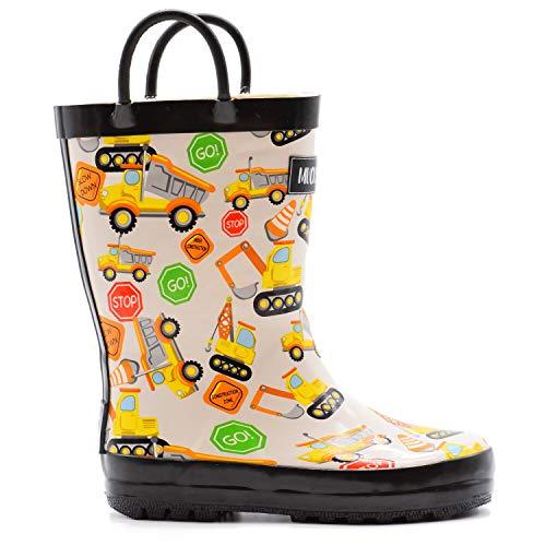 Mucky Wear Children's Rubber Rain Boot, Construction, 9T US Toddler