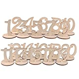 1-20 Wooden Wedding Table Stands for Anniversary Birthday Graduation Party Decoration, Paintable
