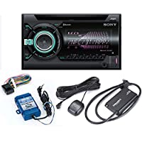 Sony WX-900BT CD Receiver with Bluetooth and Sirius XM tuner and Steering Wheel Control Interface bundle