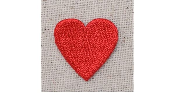 """Valentines Day Iron on Applique//Embroidered Patch 3//4/"""" Small Red Heart"""