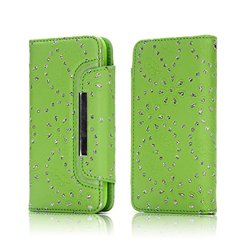 JIALUN-carcasa de telefono Hebilla de la aleta magnética 2 en 1 caso desmontable PU cuero Flip Stand cartera cubierta de la caja para el iPhone 7 Plus ( Color : Rose ) Green