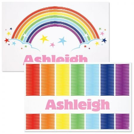 "Lillian Vernon Personalized Kids Rainbow Placemat - 11"" x 17 Children"