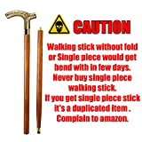 AnNafi® Men Derby Cane Walnut Maple Folding Walking Stick 2 Two Piece | Decorative Defence Victorian Peweter Solid Brass Handle -Affordable Gift! Item #HAR-9112407 | Walking Sticks for Men & Women