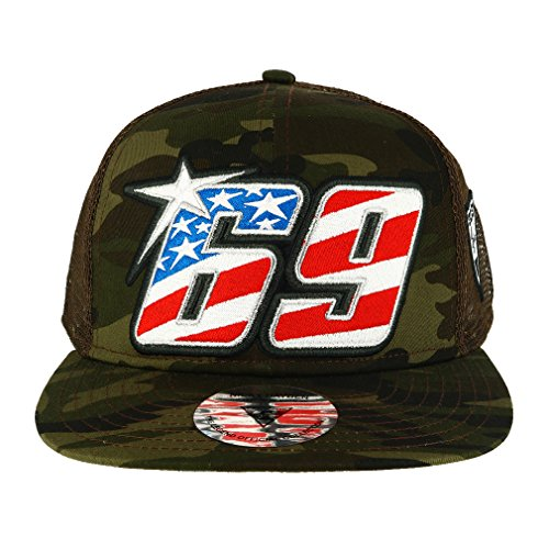 Nicky Hayden 69 Moto GP Camouflage Logo Flat Peak Cap Official 2018 by Nicky Hayden