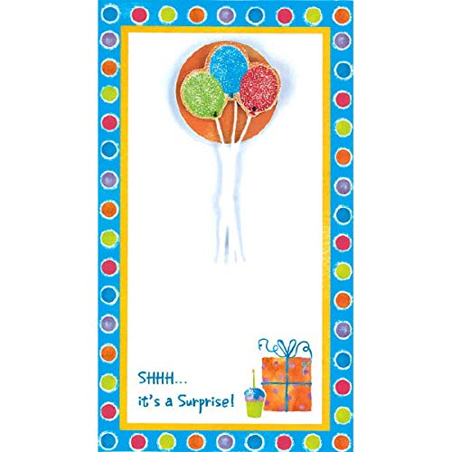 Surprise Balloon Imprintable Invitations | Party Supply | 48 Ct ()